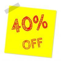 Sparen 40 Prozent
